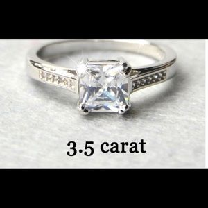 3.5ct Sterling Silver CZ ring size 8